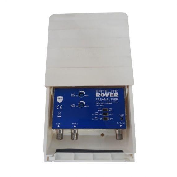 2H UHF mast amplifier with 5G RVF 211 / U Satellite Rover filter