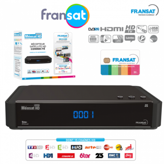 Fransat Meosat HD receiver with Card included