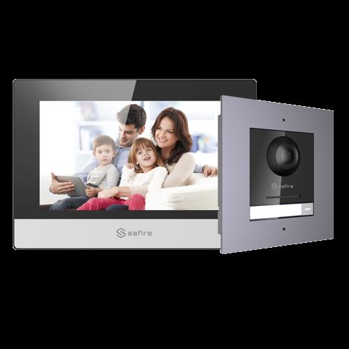 Kit Videoportero IP con Lector de Proximidad 1L SF-VIK001-F-IP Safire