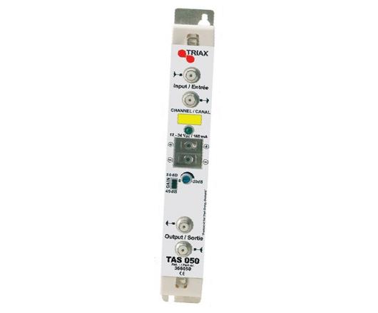 Amplificador monocanal TAS 050 de Triax para UHF