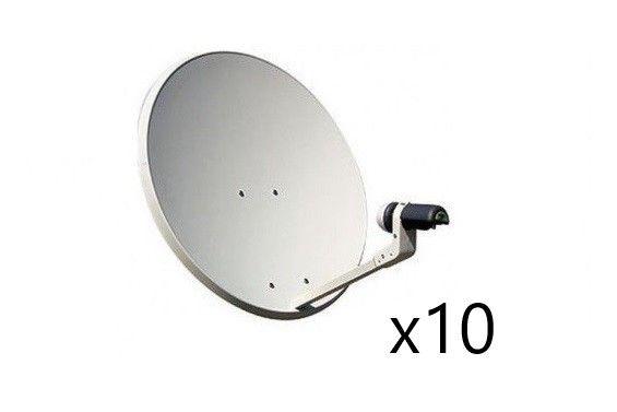 Tecatel satellite dish kit with LNB (x10)