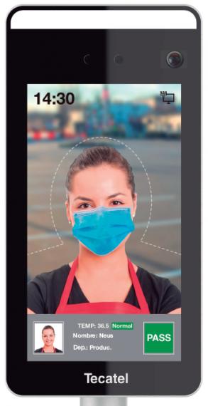 Control de Acceso Facial y Temperatura SE-PAIRT de Tecatel