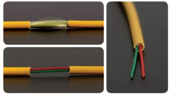Fiber Optic Cable 2 singlemode fibers Interior LSFH 300 meters