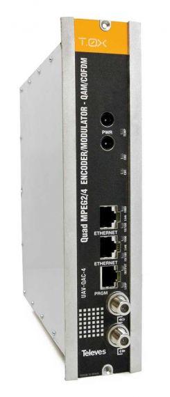 Televes 563822 T0X Encoder 4e AV CVBS - MPEG24 + COFDMQAM QUAD
