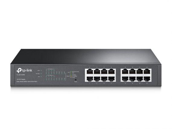 Switch TP-LINK de 16 puertos Gigabit con 8 Puertos POE+