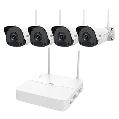 Kit 4 WIFI cameras + Uniview UV-KIT001-B44W Recorder