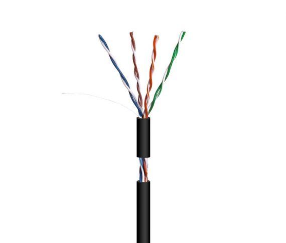 UTP Cat 5E CCA Outdoor PE Black Cable (100m)