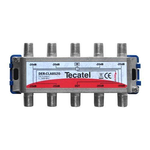 Derivador TDT-SAT 8 Salidas F 15dB Tecatel DER-CLA8S15