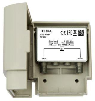 5G 60dB outdoor filter 5-694 MHz Tecatel TE-TF001