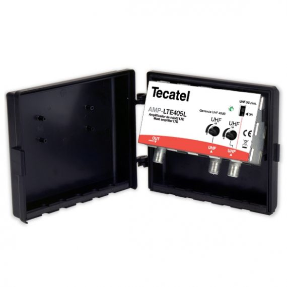 Amplificador de Mástil 40dB 2xUHF Tecatel AMP-LTE405L