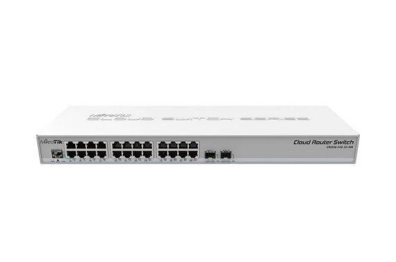 Switch/Router 24 puertos Gigabit Mikrotik CRS326-24G-2S+RM