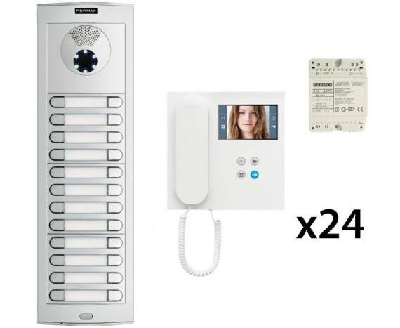 DUOX Video Intercom Kit for 24 Homes Fermax