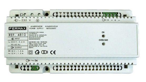 Fermax 4810 Power Supply DIN10 230VAC/12VAC+18VDC 1.5A