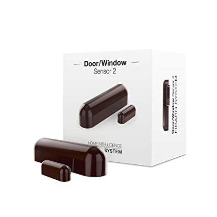 Sensor de ventana/puerta marrón oscuro FGDW-002-7 Z-Wave Plus
