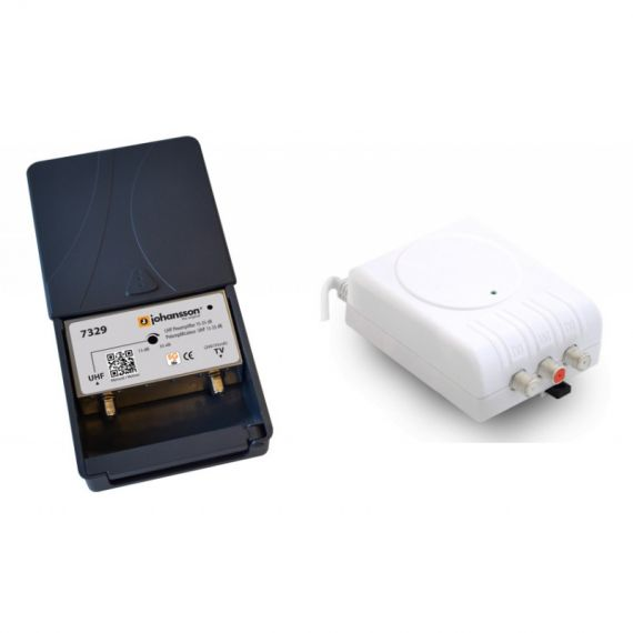 Mast amplifier kit UHF 35dB 7329 + 2436 Johansson Power Supply