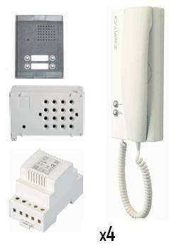 Kit de portero electrónico 4 viviendas Amplyvox