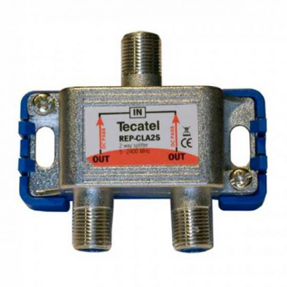 Repartidor interior con Conector F de 2 salidas
