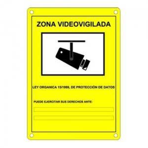 Cartel de cámaras de seguridad