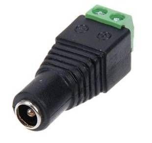 Conector DC Hembra alimentación CCTV atornillar