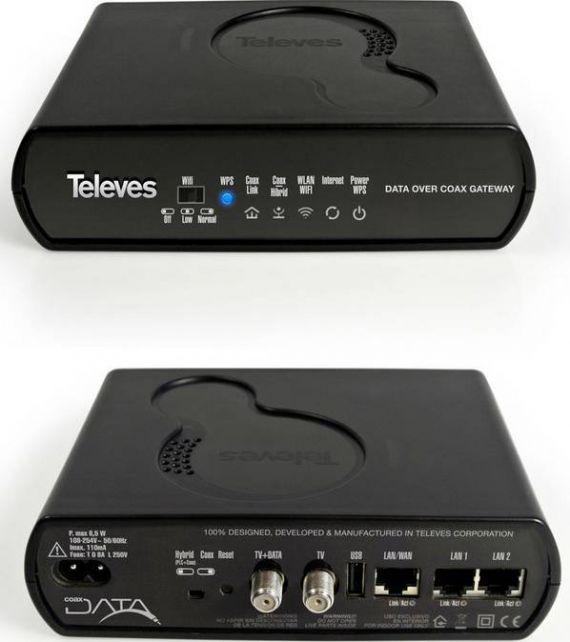 Coaxdata con WiFi de Televes