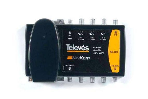 Central Amplificadora Minikon 2 FI + MATV.