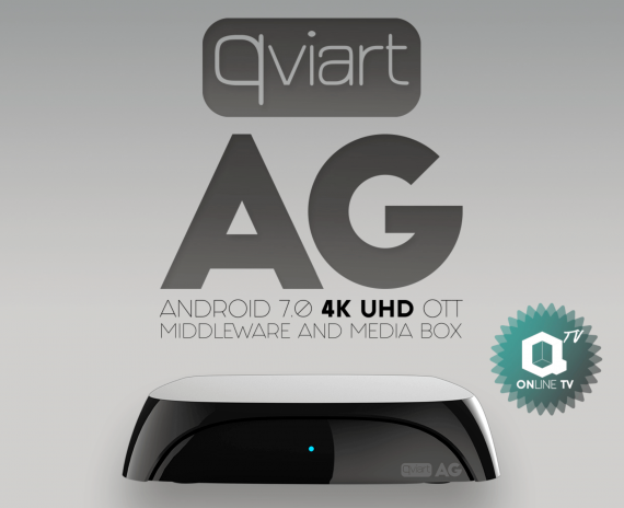Receptor IPTV Qviart AG Negro Android 7.0 4K