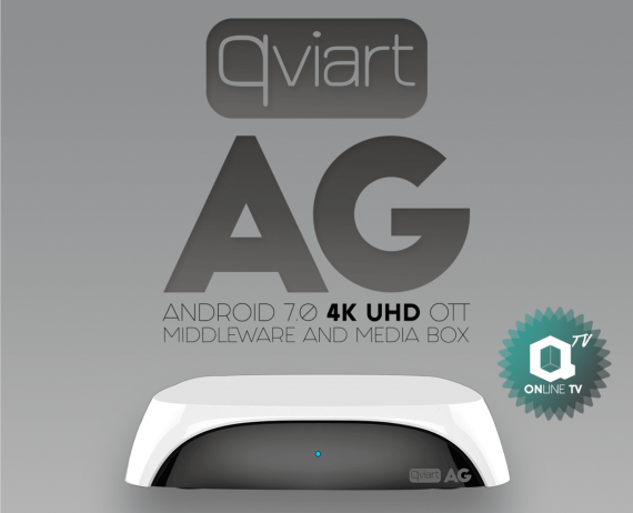 Receptor IPTV Qviart AG Blanco Android 7.0 4K