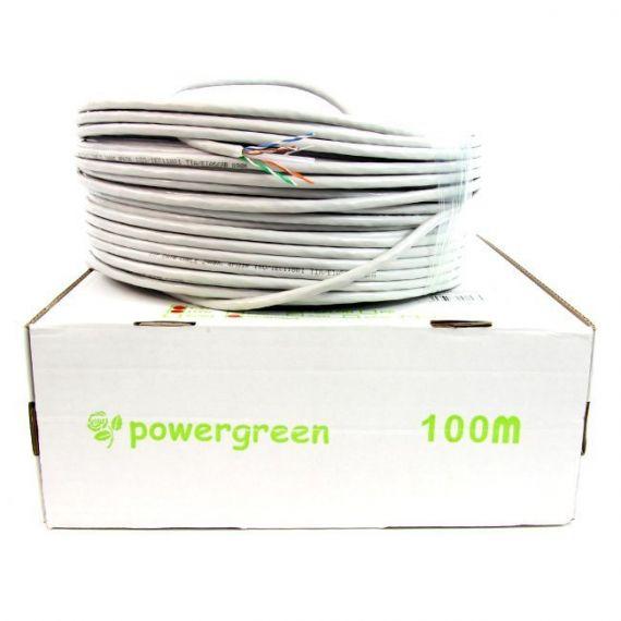 Bobina 100m Cable UTP Cat 6 Flexible CAB-06100-BFL de Powergreen