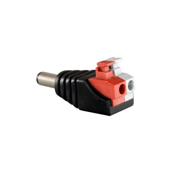Conector DC hembra de fácil conexionado (Rojo)