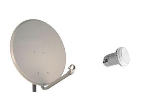 Antena parabólica 60cm + LNB single