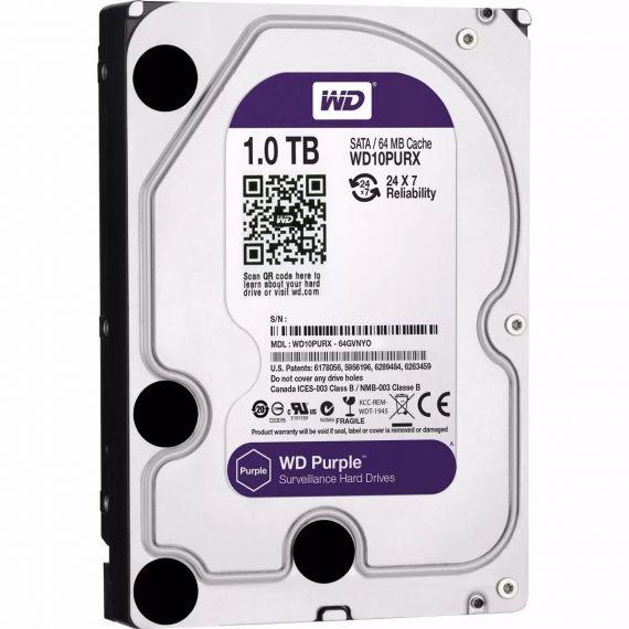 """Disco duro SATA de 1TB de 3.5"""" Western Digital Purple HDD"""