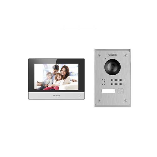 """Kit Videoportero IP WiFi 2 hilos 7"""" 1L Hikvision DS-KIS703-P"""