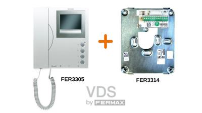 Monitor 3305 y Conector 3314 de Fermax