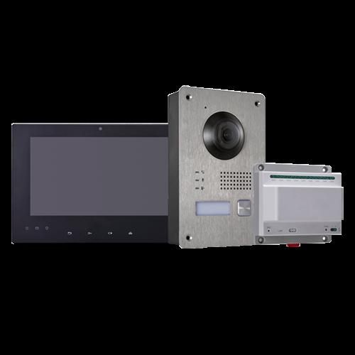 Kit de Videoportero 2 Hilos IP de Hikvision 1L HW-DS-KIS701-B