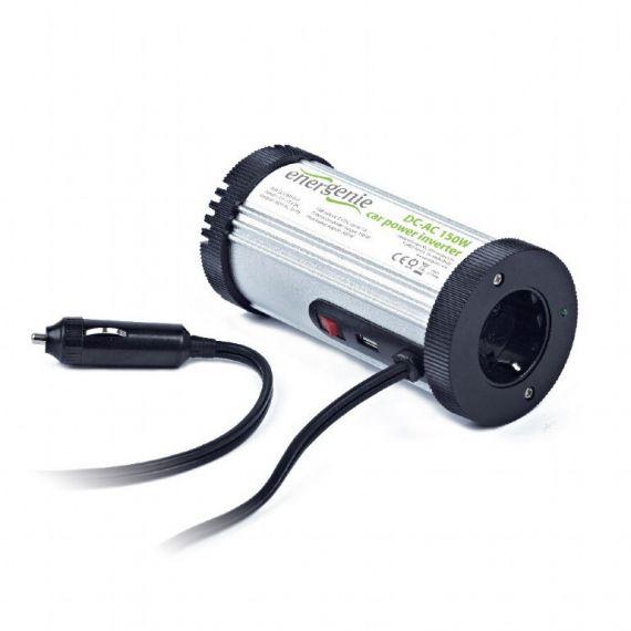 Inversor Coche 12VDC - 230VAC 150W 1 Schuko + USB