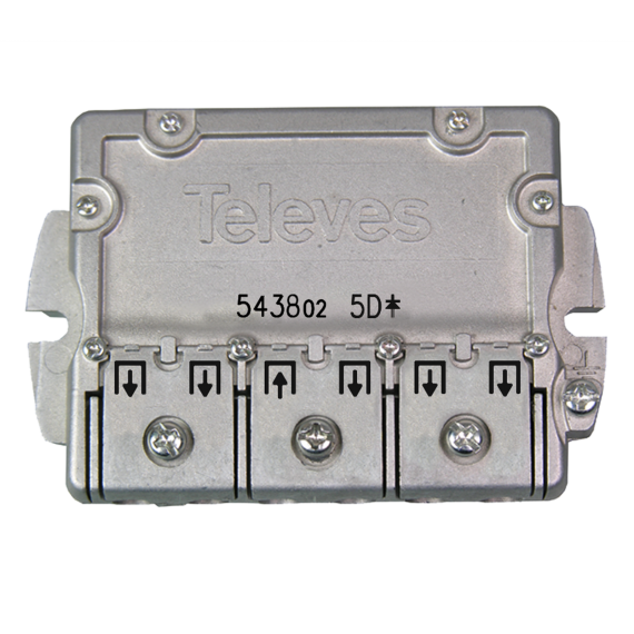 Splitter DTT-SAT 5 outputs Televes flange 543802