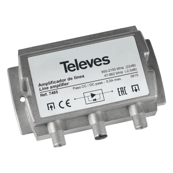 Amplificador de linea FI G.20 dB Vs 95 dBuV