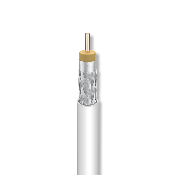 Cable Coaxial Cu/Cu A++ Eca Interior Blanco Televes 4138
