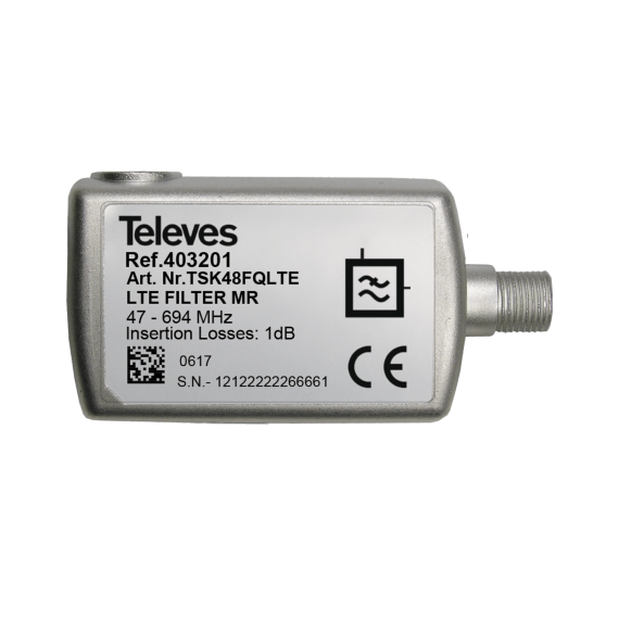 Indoor 5G filter with DC Televes 403201