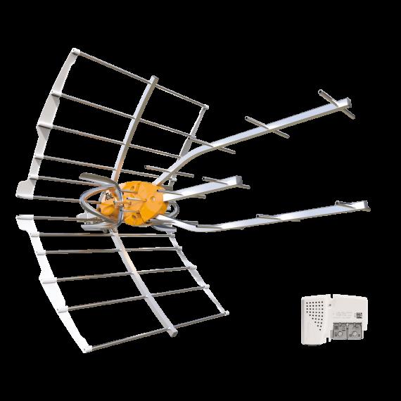 UHF Ellipse Antenna (C21-48) LTE 5G + Feeder (Bag)