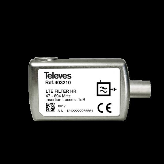 Filtro LTE 5G de interior con conector CEI Televes 403210