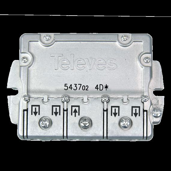 DTT-SAT EasyF 4D Televes 543702 Splitter