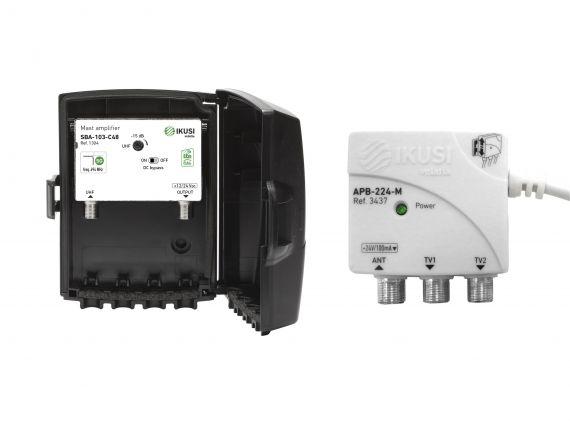 Mast Amplifier + Power Supply Kit Ikusi JSBA-103-C48