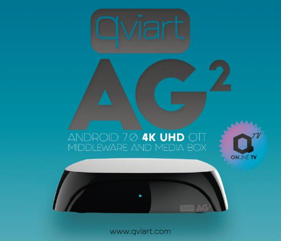 Receptor IPTV Qviart AG2 Negro 4K Bluetooth