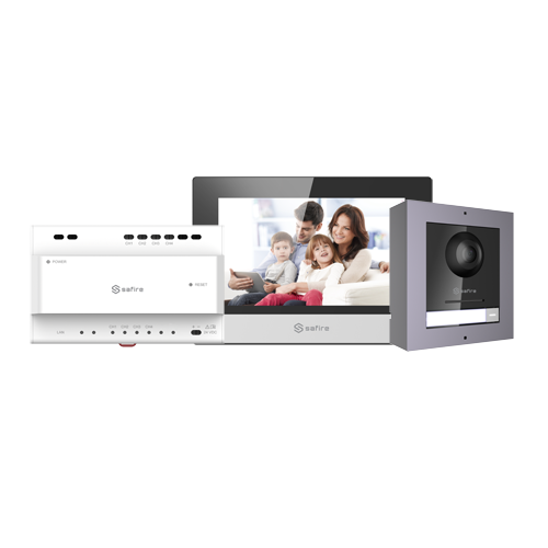 Kit Videoportero IP WiFi 2 Hilos 1L Safire SF-VIK001-S-2