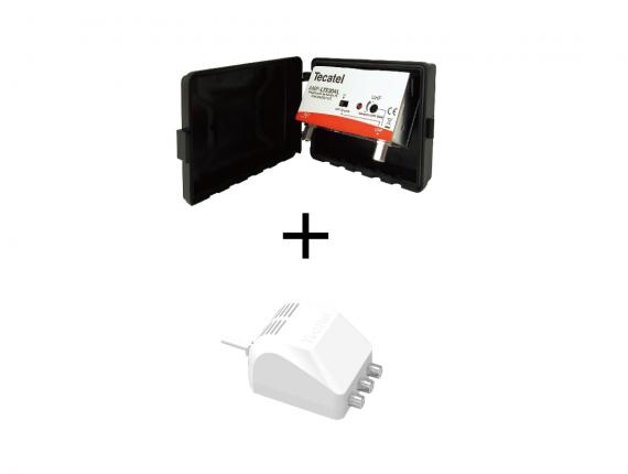 kit de amplificador de mástil más fuente