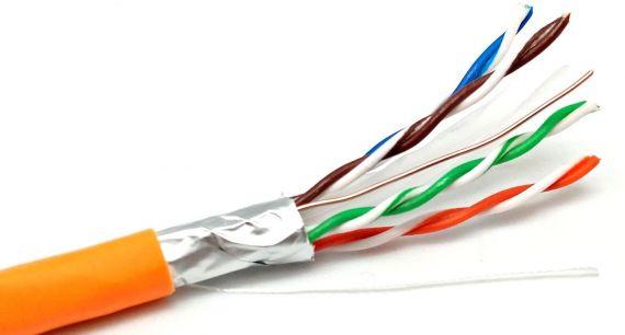 Cat 5 Cu Eca Indoor FTP Cable LSZH Orange (305m)