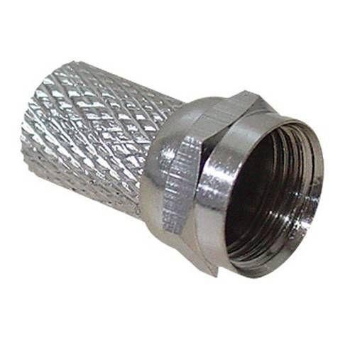Conector F para cable coaxial de 6,6 a 7 mm.