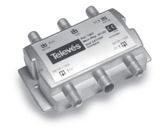 Mezclador ICT Repartidor 2FI-2D 3e-2s 5-2400 MHz.